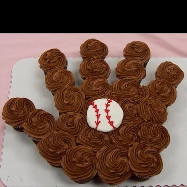 Baseball cupcake cake: I'll be making Softball Cupcake Cake!