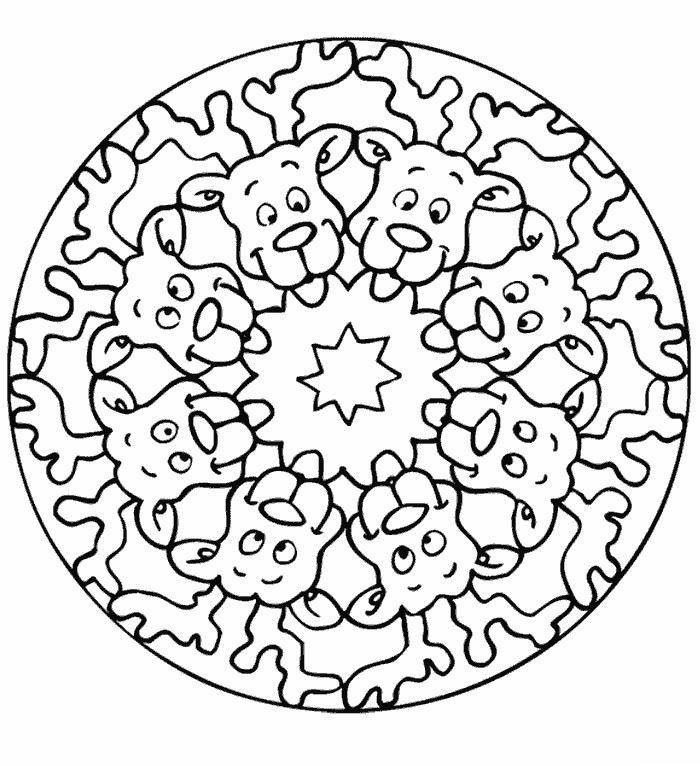 Printable Xmas Mandala Coloring Pages E1543101879573 Mandala Mandala Coloring Christmas Mandala Christmas Coloring Pages