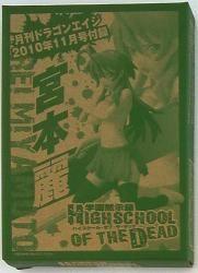 キャラアニ/富士見書房 ドラゴンエイジ2010/11附録 宮本麗 (制服) 附録