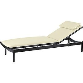 Antalya Outdoor Chaise Lounge  MidCentury  Modern, Upholstery  Fabric, Resin  Composite, Chaise Lounge by Mc Guire Furniture