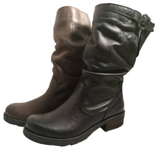 Leather slouch boots, made in Italy by Bouu by Bouu. Buy it 89,10 €