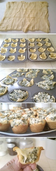 Spinach Artichoke Bites | Recipe By Photo #Cake