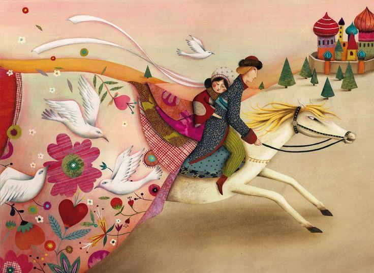 Artodyssey: Artodyssey: Marie Desbons °Blois 1981. Etudes d'arts appliqués. 2007, elle décide de se lancer dans l'illustration. Bouts de papiers et de tissus, pinceaux, crayons, ciseaux sont ses outils de travail pour imaginer des illustrations colorées et poétiques. Aujourd'hui elle habite à Brest et travaille pour la presse et l'édition jeunesse ainsi que pour La Marelle, éditeur en papeterie et objets poétiques.