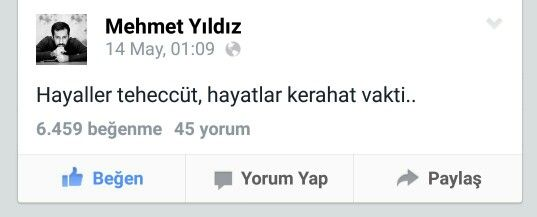 #MehmetYıldız #Facebook