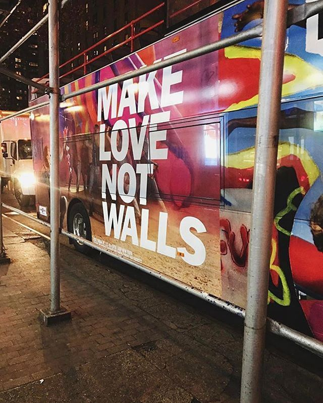 Make love not walls: @ohmydiorblog #peace #quoteoftheday #cool #bus #message  via MARIE CLAIRE MEXICO MAGAZINE OFFICIAL INSTAGRAM - Celebrity  Fashion  Haute Couture  Advertising  Culture  Beauty  Editorial Photography  Magazine Covers  Supermodels  Runway Models