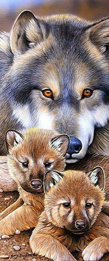 картинки тату волчица с волчатами карты