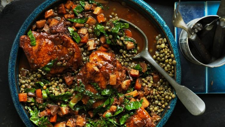 Winter warmer: Chicken and lentils