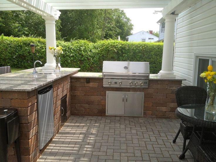 viewing gallery outdoor kitchens home and garden design ideas - L Shape Garden Decor