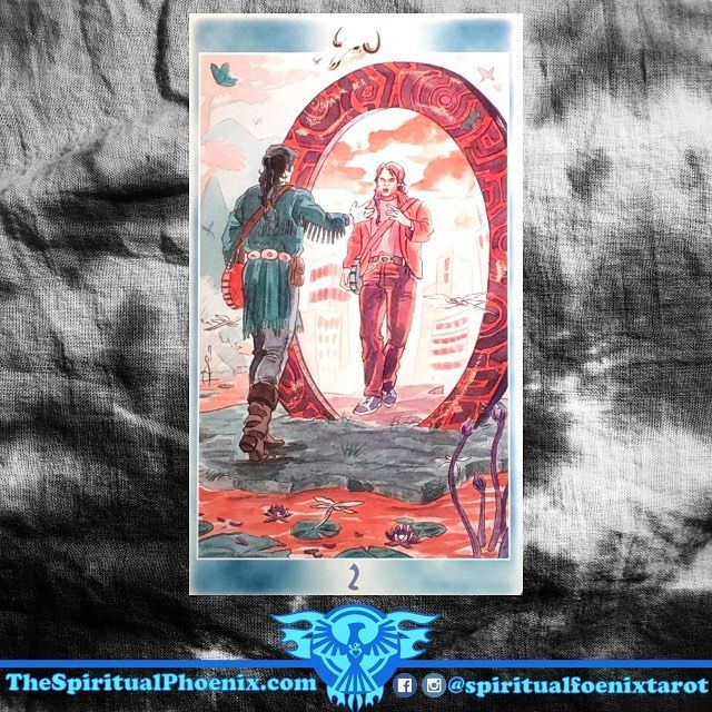 Today's Shaman Tarot Card!  2 of Bones ( 2 of Wands)  The Other Self - Goals attained thanks to inner resources yet to be exploited.  Inner willpower based on self-knowledge, optimism.  If viewed as the 2 of wands.  II of Wands:  Wands: The element of Fire; Instinct, travel and communication  Wands/Fire: I desire - The Soul  Twos: Partnerships, balance, and division  Key Meanings: Plans, partnership, and influence  The Two of Wands shows you making plans and moving forward, so travel…