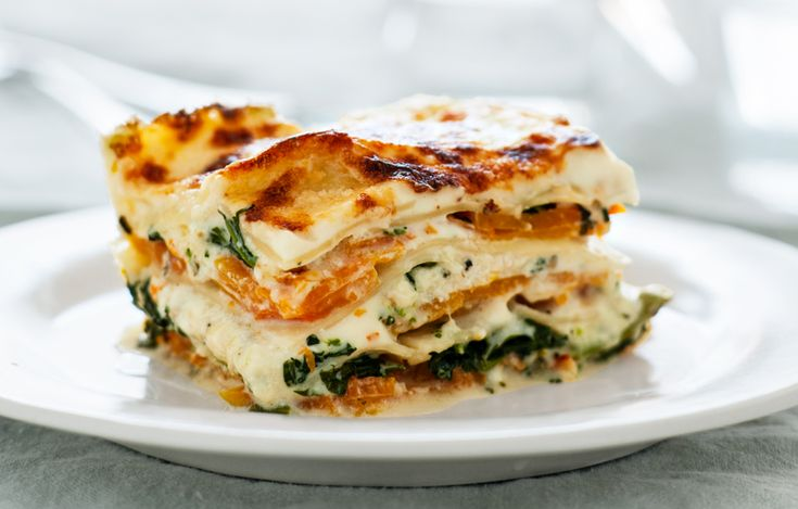 Squash and Broccoli Rabe Lasagna by bonappetit #Lasagna #Squash #Broccoli_Rabe #Vegetariain