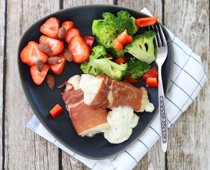 Torsk med spekeskinke og jordbær | Sunnere Livsstil