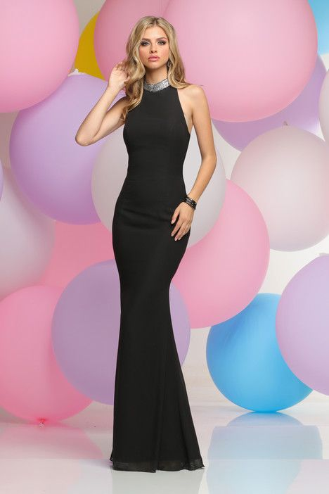 30854 dress (Sheath, Halter, Halter,  Sleeveless ) from  Zoey Grey 2017, as seen on dressfinder.ca. Click for Similar & for Store Locator.