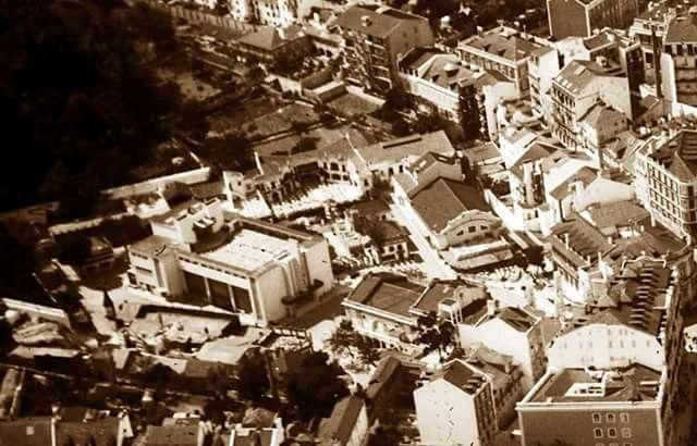 Vista aérea do Parque Mayer