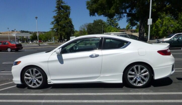 """2014 Accord Coupe HFP kit. Body kit. 19"""" wheels. Lowered .6"""". Before tint."""