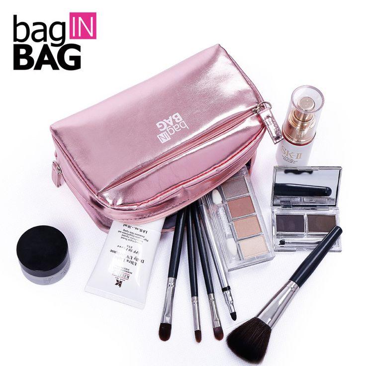 Vivid kapasitas besar wanita tas kosmetik make up makeup bag organizer tas wanita clutch tas penyimpanan travel trousse de maquillage
