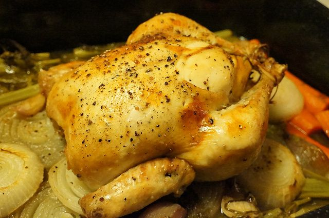 Roast Chicken With Rosemary And Lemon Recipe — Dishmaps