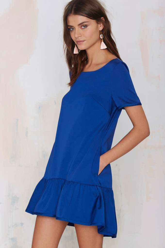 Nasty Gal Let's Drop It Shift Dress - Day | Going Out | Shift | Solid | Dresses