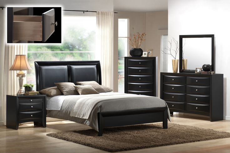 king bedroom set with leather headboard 2