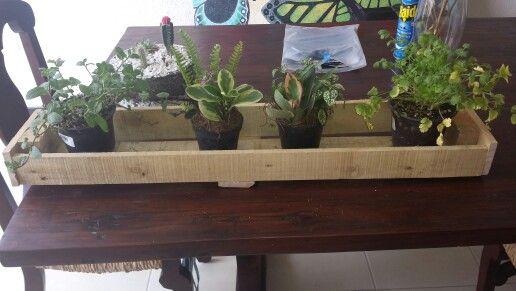 Repisa para macetas peque as cosas para jardiner a - Macetas hechas con palets ...