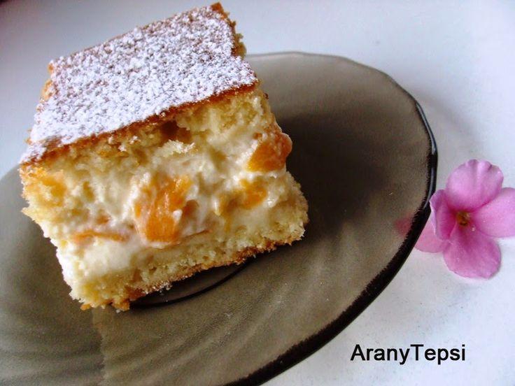 AranyTepsi: Barackos-tejfölös sütemény