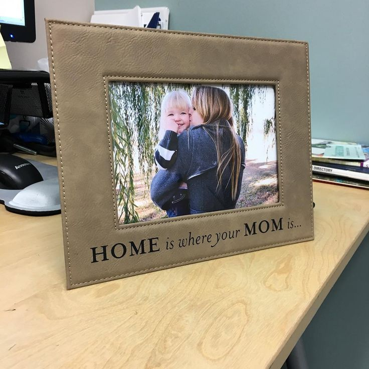 Engrave your own text into our leatherette photo frames!  #custom #engraved #photo #frame #leather #picture