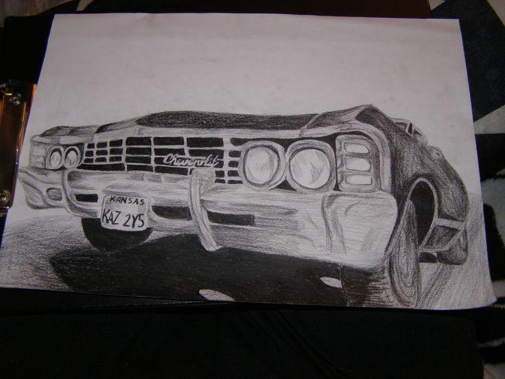 Impala / supernatural Baby / Drawing