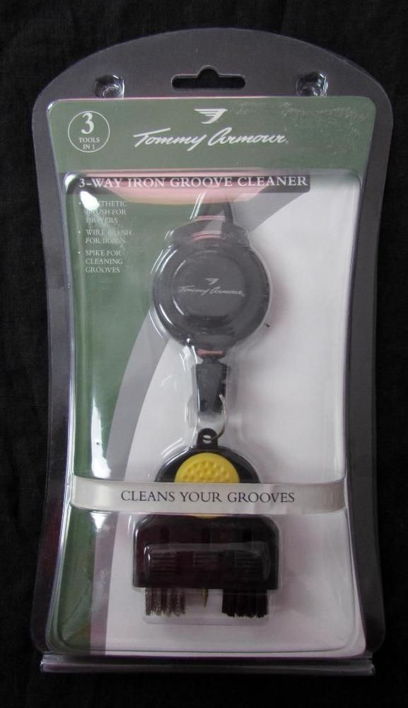 3 in 1 Tommy Armour 3 Way Iron & Club Groove Golf Club Cleaner NEW NIP #TommyArmour