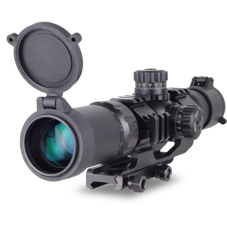 New Aim Sports Recon Series 1.5-4 X 30 Tactical Scope Shockproof Waterproof For 20 mm Rail