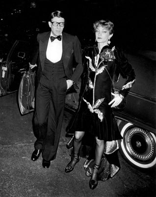 """""""Yves Saint Laurent and Loulou de la Falaise, """"Opium"""" Perfume Launch Party, The Peking Ship, New York, 1978"""" © Ron Galella / Staley-Wise Gallery New York"""