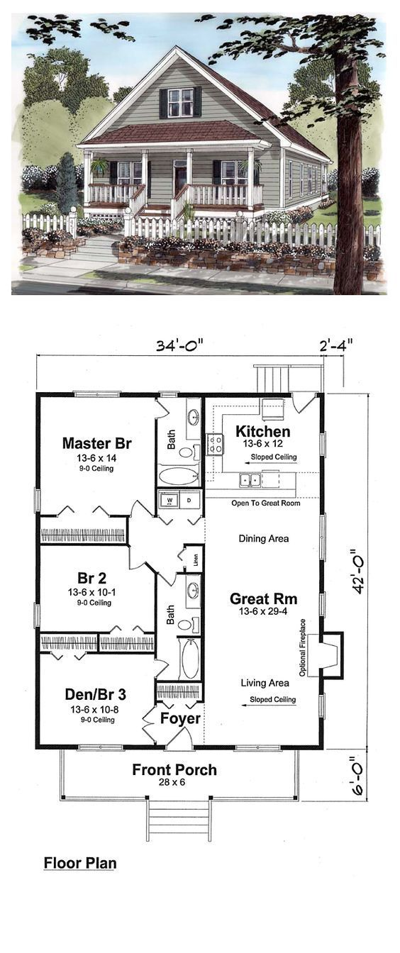 De 25 bedste id er til bungalow floor plans p pinterest Affordable house construction