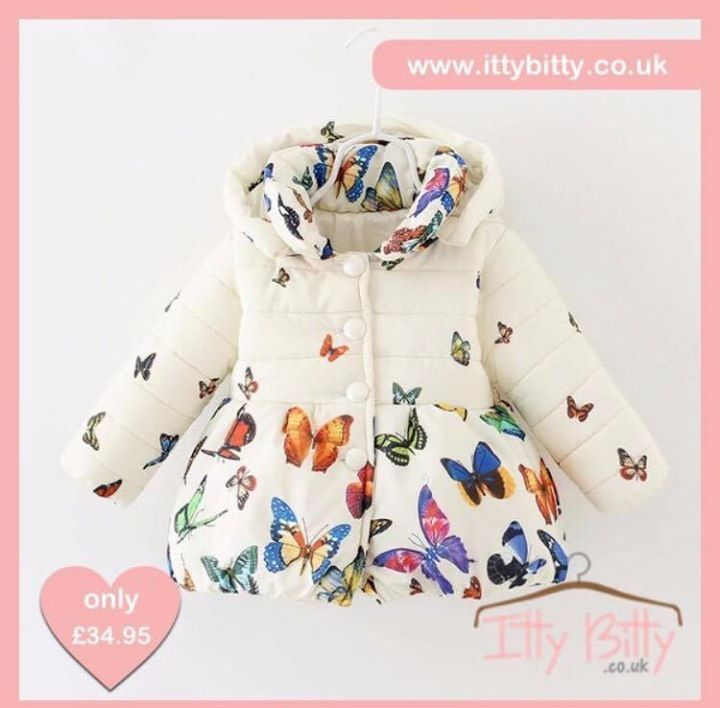 AUTUMN /WINTER NEWBIE!! I know it's too early but I'm too excited for the upcoming new range 💗  Shop here ⭐️ https://www.ittybitty.co.uk/product/itty-bitty-butterfly-print-coat/?utm_content=buffer938dc&utm_medium=social&utm_source=pinterest.com&utm_campaign=buffer  🅿️ PayPal or 💳 Credit/Debit card 🔐Secure website