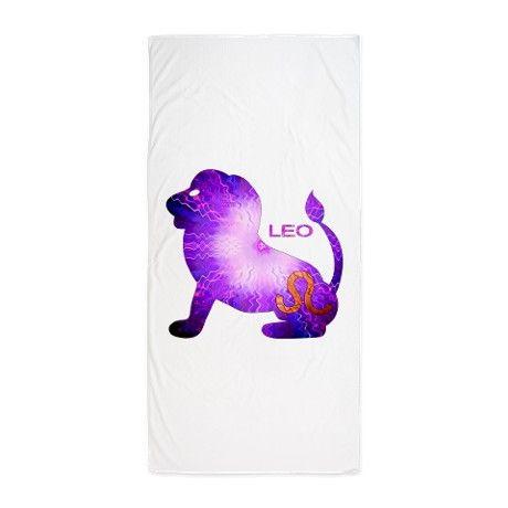 $29.99 LEO.png Beach Towel on CafePress.com