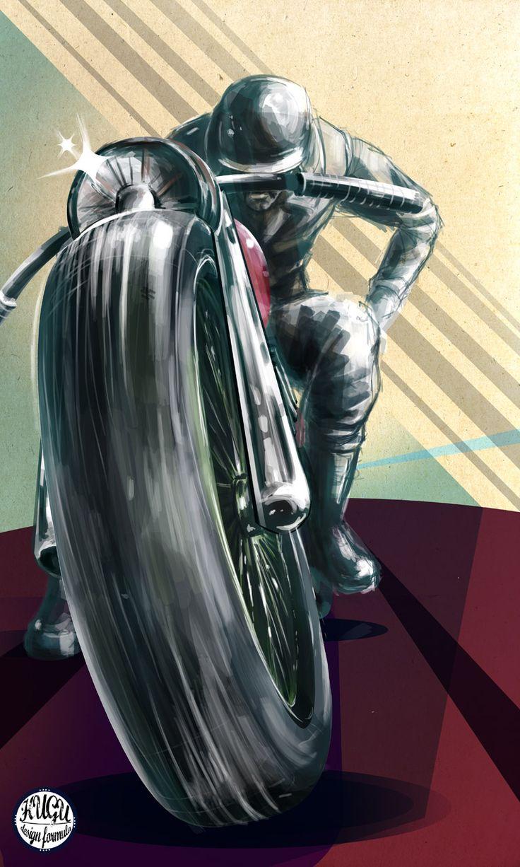 HUGU : Motorcicle digital illustration