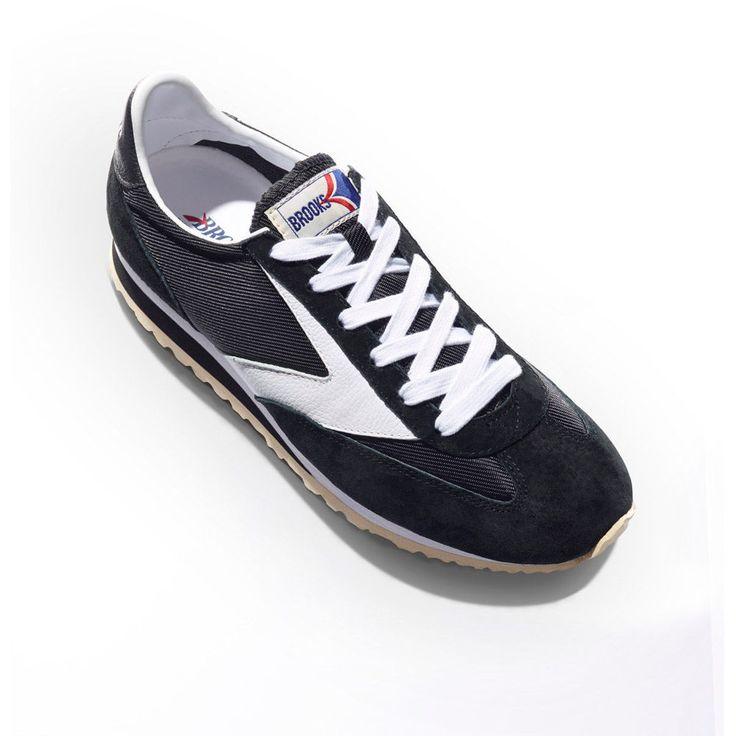 NIB Black White 125 Brooks Running Vanguard Men Vintage Heritage Sneakers  8.5-13 in Clothing