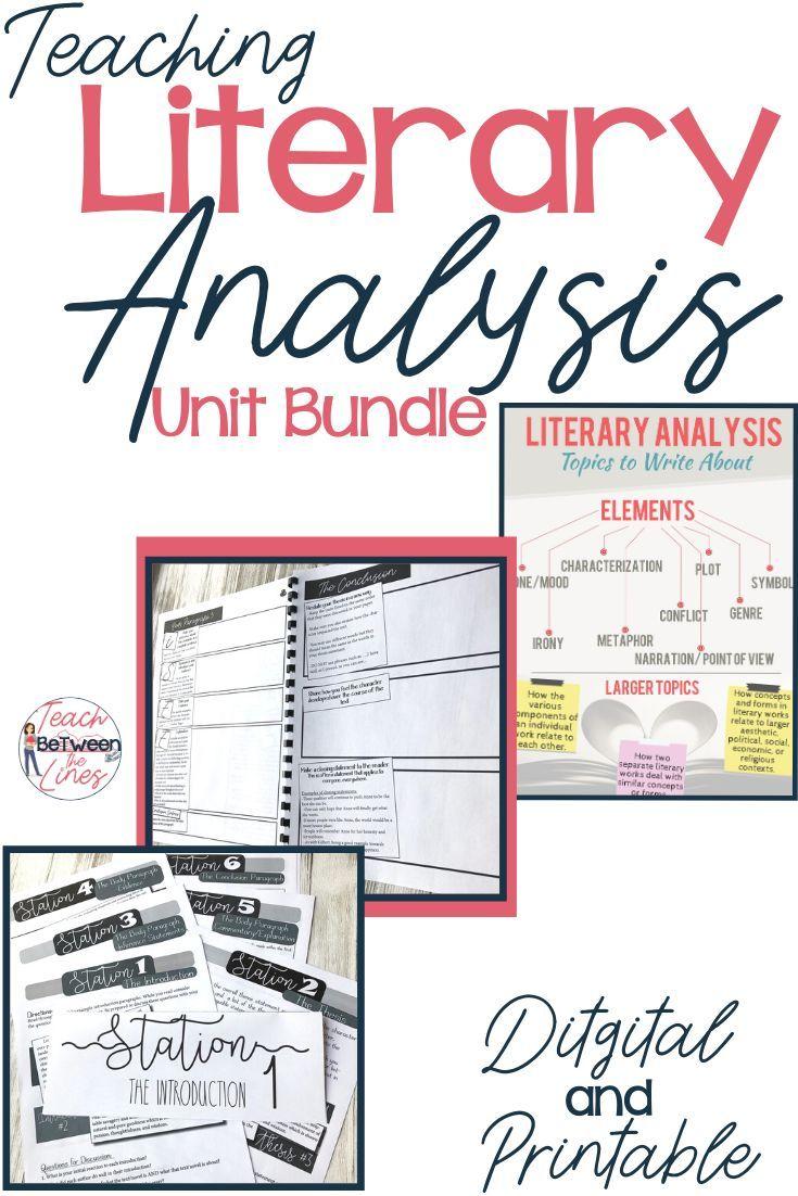 Literary Analysi Unit In 2020 Essay Teaching Analysis Harry Potter