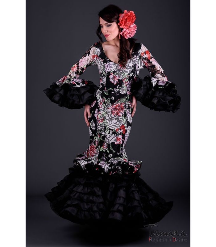 trajes de flamenca 2017 - Roal - Alhambra Estampado negro
