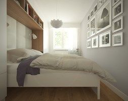 Średnia sypialnia małżeńska, styl nowoczesny - zdjęcie od Studio Monocco