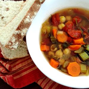 Moroccan Chickpea Soup - This soup is chock full of veggies and tastes great. A new fall favourite.