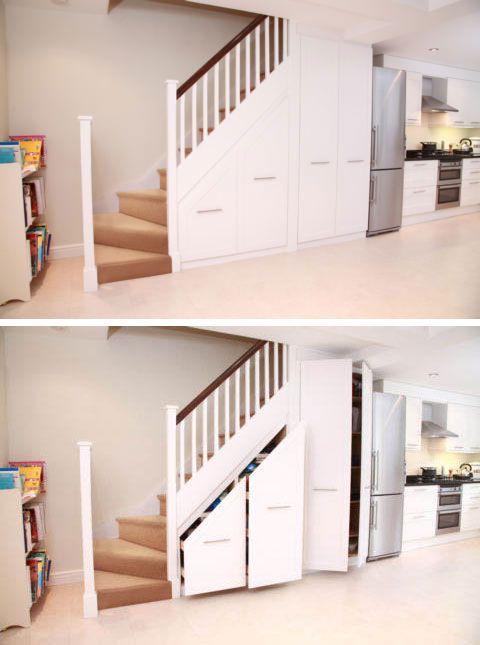 Interieurbouw: Kasten onder de trap - Geen huis zonder een trap