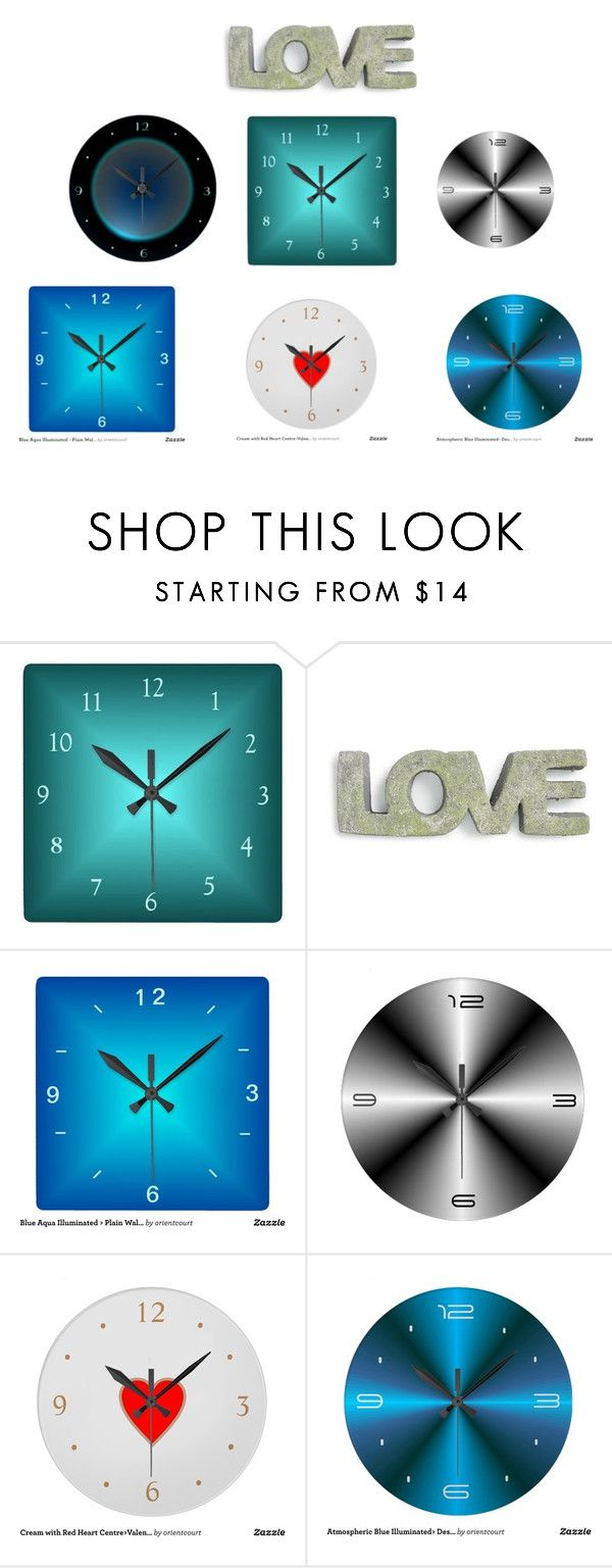 Colorful Simplistic Clocks From Orientcourt Zazzle By On Polyvore Featuring Interior Interiors