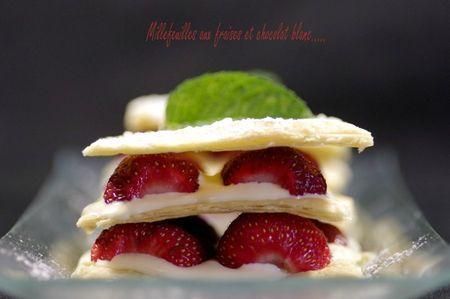 Millefeuille aux fraises et chocolat blanc