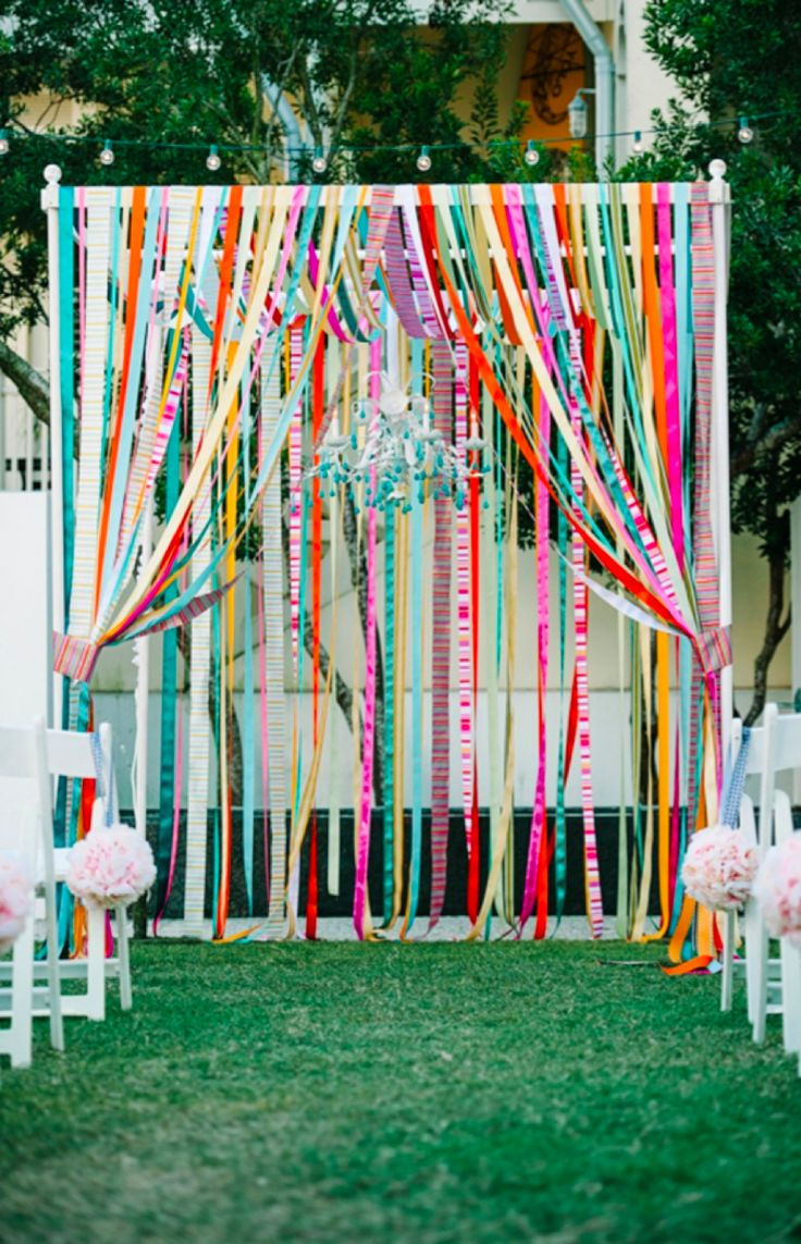 A Colorful Wedding Ceremony.