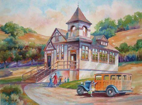 Schoolhouse by Mel Wolf