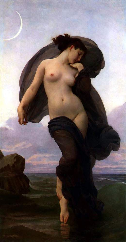 Evening Mood (1882) by William Bouguereau
