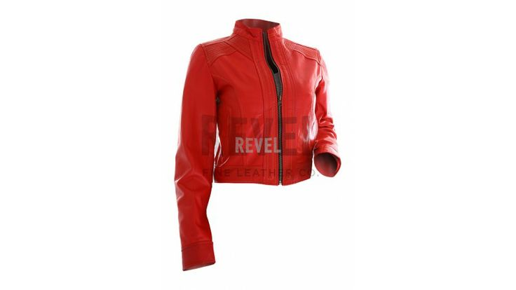 $177-Designer wear slim-fit leather biker jacket for women on HUGE SALE. Blend in rich fashion sense with affordable designer clothing slim-fit leather motorcycle jacket for women.