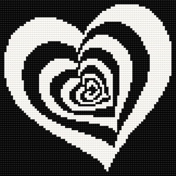 ♥ Korsstygns-Arkivet ♥: HJÄRTA-KORSSTYGNSMÖNSTER. Heart cross stitch chart - blog with lots of free cross stitch