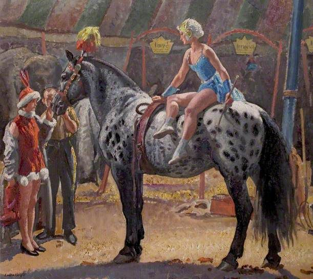 Elsie on 'Hassan' by Laura Knight