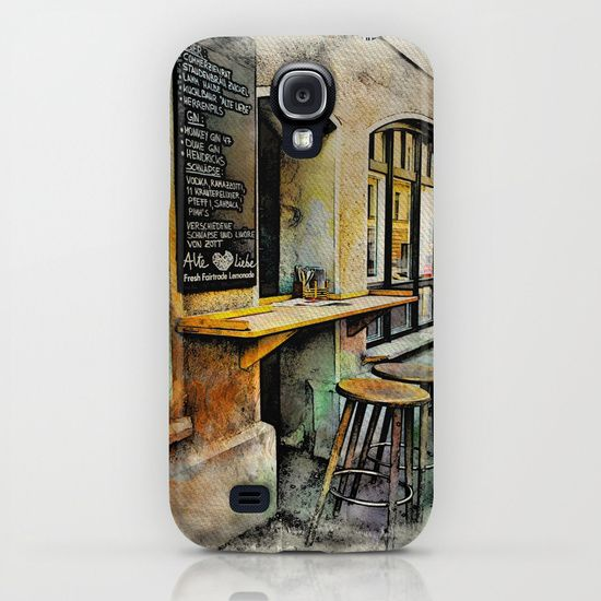Cafe Stools iPhone & iPod Case by AngelEowyn. $35.00