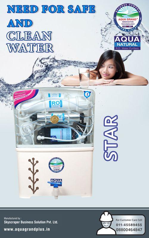 Need For Safe And Clean Water #AquagrandPlus #Star #Water #CleanWaterForIndia #WaterPurifierIndia #ROPurifier Visit Us- www.aquagrandplus.in. Call Us-011-45589455 / +91 8800464847