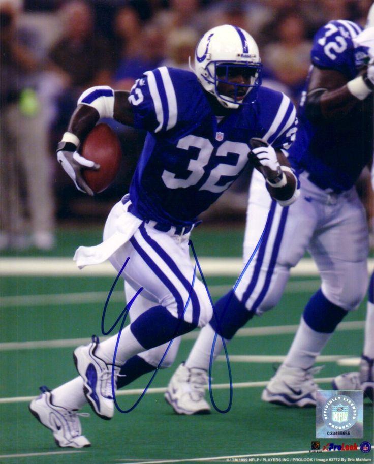 Edgerrin James colts rare football card | Edgerrin James autographed Indianapolis Colts 8x10 photo